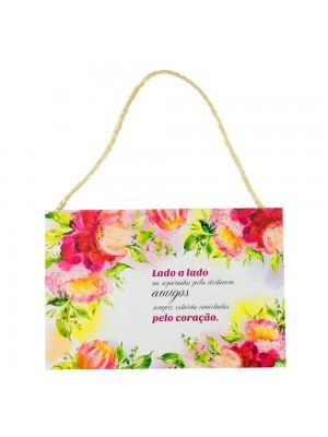 Placa Decorativa Lado A Lado Ou Separados Pela Distância 20x30cm