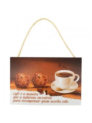 Placa Decorativa Café É A Maneira 20x30cm