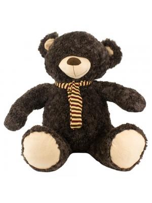 Urso Marrom Escuro Com Cachecol 52cm - Pelúcia