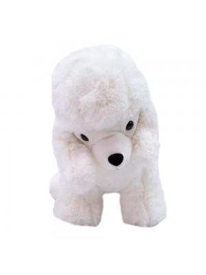 Cachorro Poodle Branco 21cm - Pelúcia