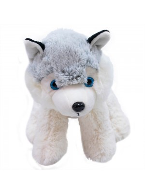 Cachorro Husky Sentado 24cm - Pelúcia