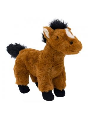Cavalo Marrom Em Pé 23 - Pelúcia