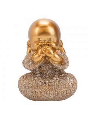 Monge Dourado Não Falo 9cm