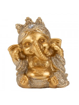 Ganesha Dourado Não Ouço 7cm
