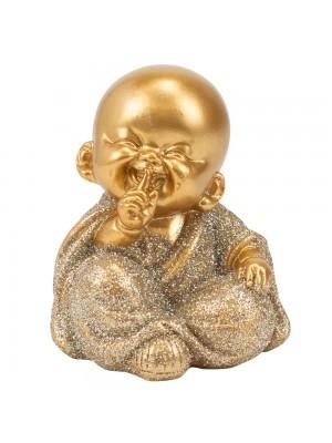 Monge Dourado Sentado Não Falo 7cm
