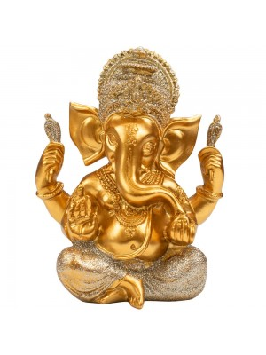Buda Ganesha Dourado 14cm