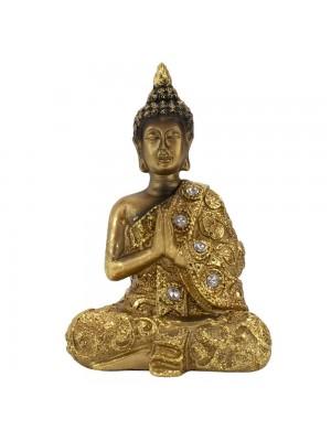 Buda Dourado Gassho 12cm