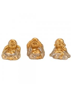 Jogo 3 Monges Não ouço Não Falo Não vejo 4cm
