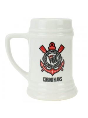 Caneca Porcelana Branca 500ml - Corinthians