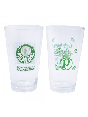 JG 2 copos de vidro 475ml - Palmeiras