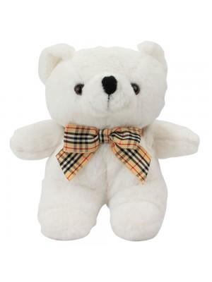 Chaveiro Urso Branco Laço 15cm - Pelúcia