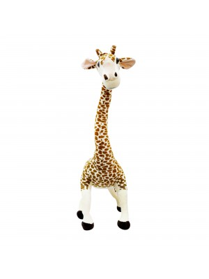 Girafa De Pé Com Pescoço Dobrável 88cm - Pelúcia