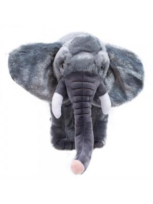 Elefante Cinza Realista 15cm - Pelúcia Enfeite