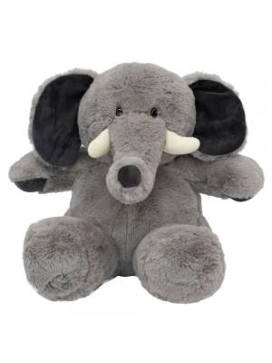 Elefante Cinza Sentado 27cm - Pelúcia