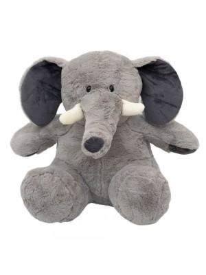 Elefante Cinza Sentado 37cm - Pelúcia