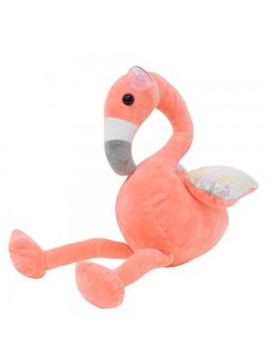 Flamingo Rosa Asas Lantejoulas 28cm - Pelúcia