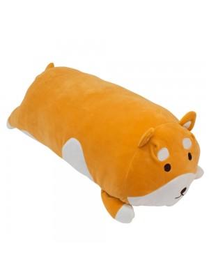 Almofada Cilíndrica Cachorro Shiba Pelúcia 64cm