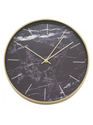 Relógio Parede Fundo Preto 30x30cm