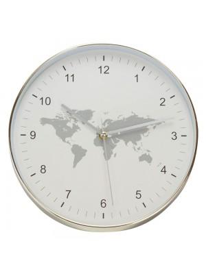 Relógio Parede Mapa Mundi 30x30cm