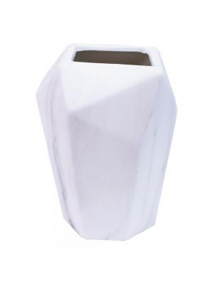 Vaso Porcelana Branca 15.5x11x12cm