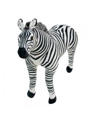 Zebra Realista Em Pé 110cm - Pelúcia