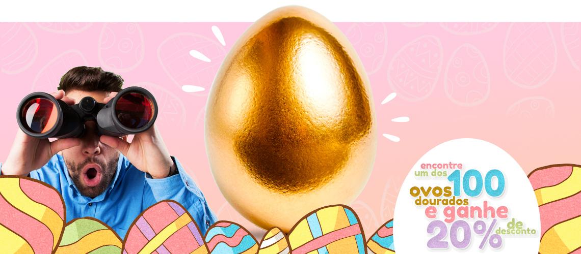 Páscoa Dourada - Encontre Ovos de Páscoa no site e ganhe 20% de desconto.